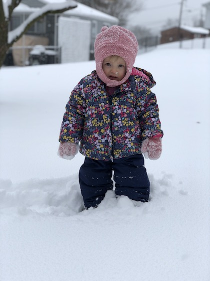 Baby in the snow