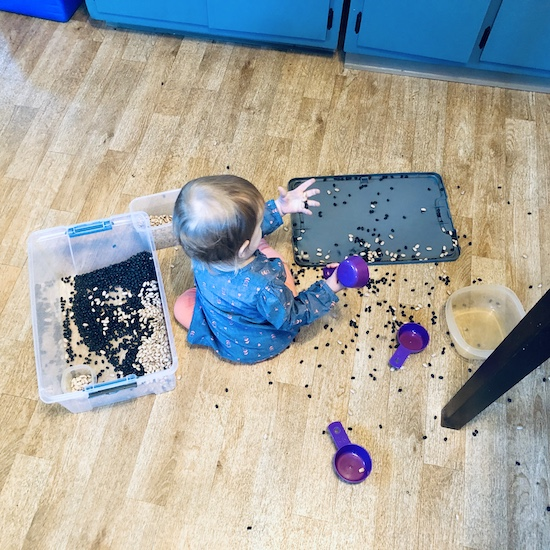 Baby and toddler craft idea with beans