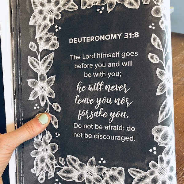 Deuteronomy 31:8 scripture art