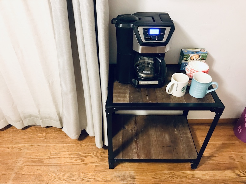 Bedroom coffee bar