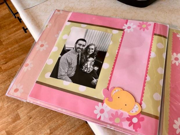 Scrapbook for baby girl