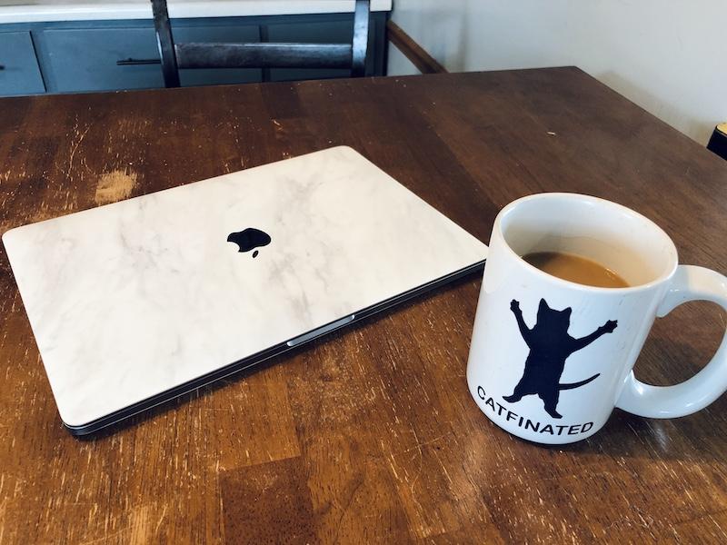Coffee and Mac laptop Macbook