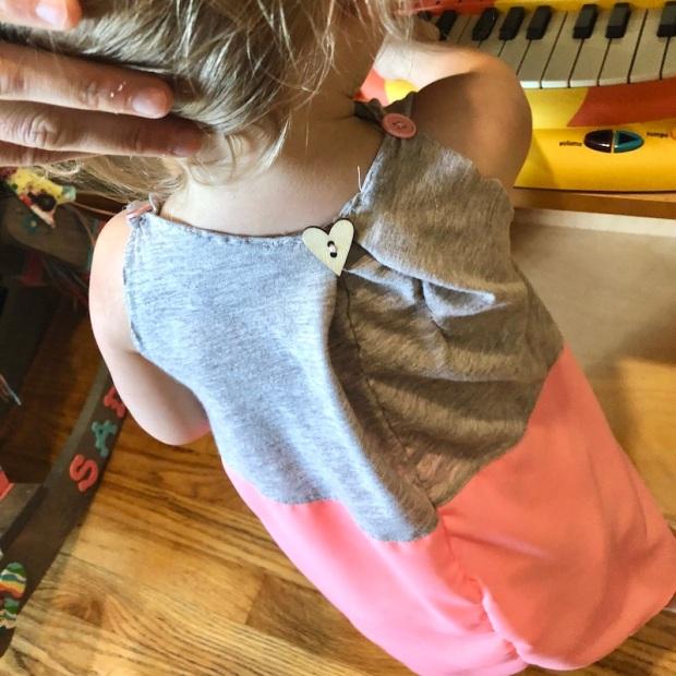Toddler dress made from t-shirt