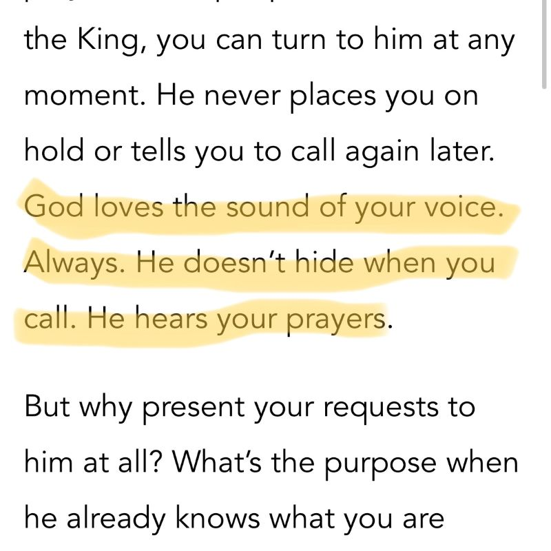 God loves the sound of your voice. Anxious for nothing devotion