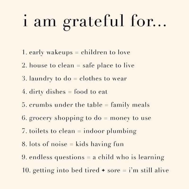 I am grateful for list