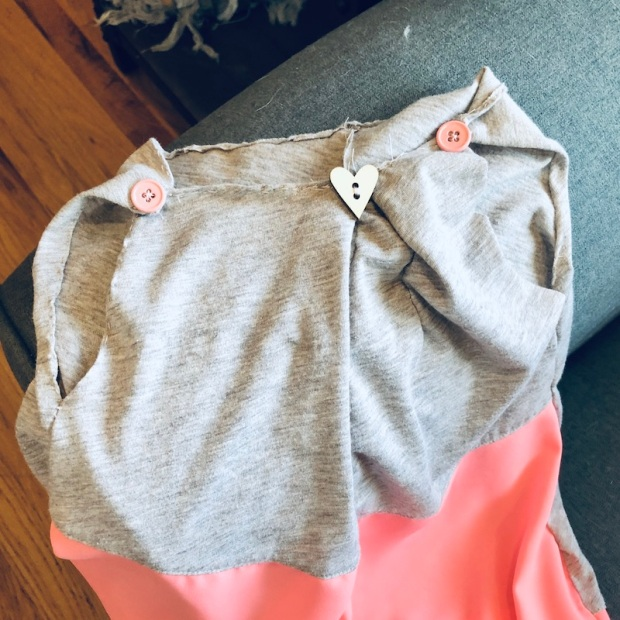 Hand sewn dress made from t shirt for toddler