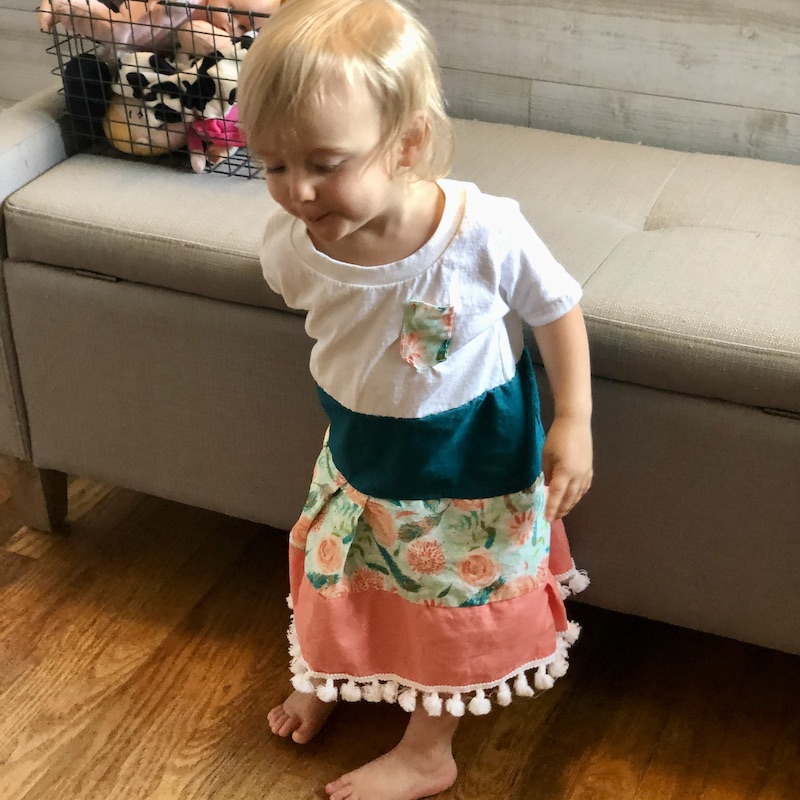 Hand-sewn toddler dress