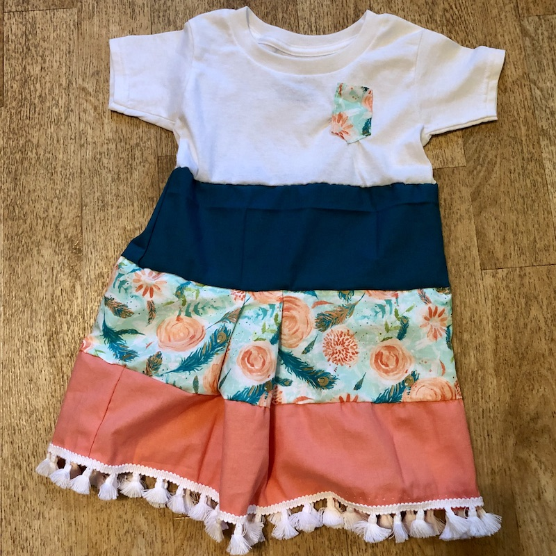 Handmade toddler dress that was sewn