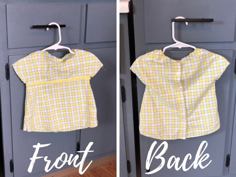 Toddler shirt made from button up shirt