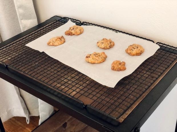 Cowboy cookies cooling