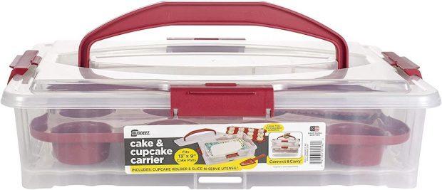 Plastic cupcake carrier