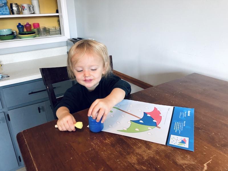 Toddler painting Abeka homeschool craft