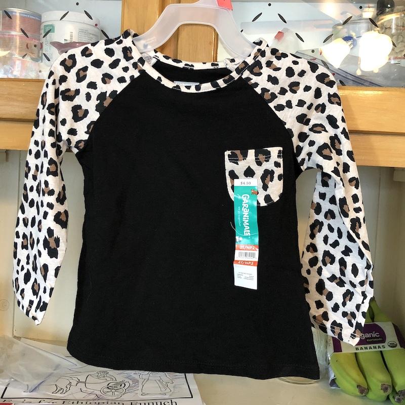 Garanamals leopart toddler long sleeve shirt from Walmart