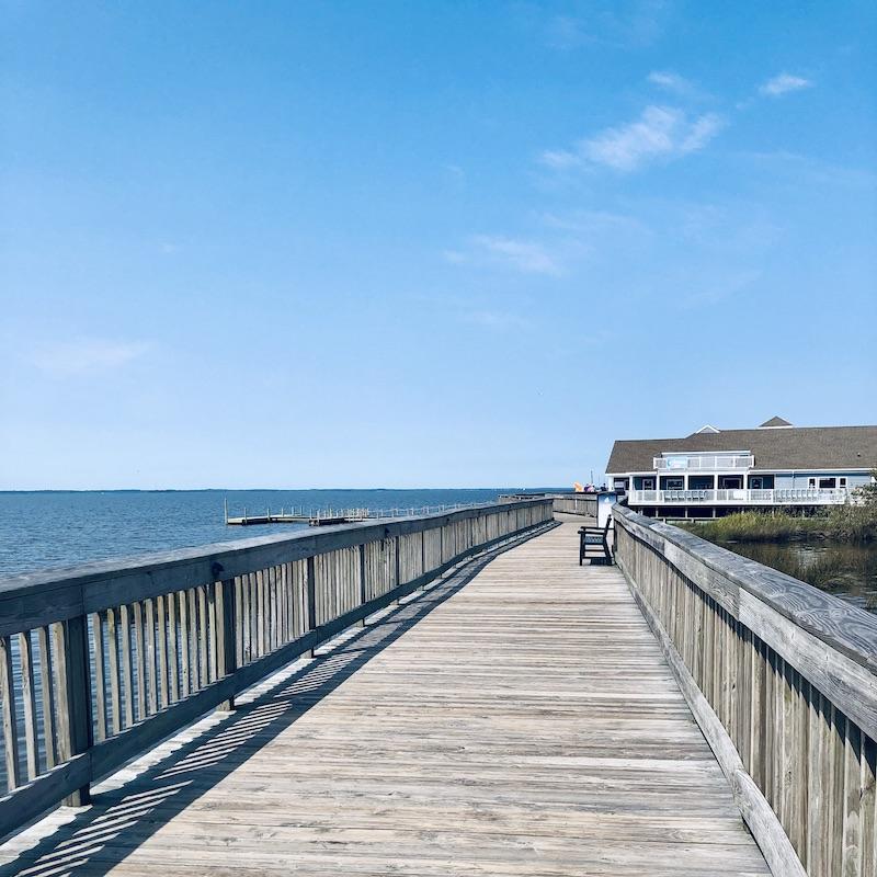 Duck boardwalk in Outer Banks
