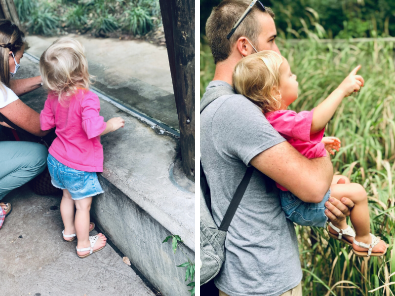 Father and daughter at Pittsburgh Zoo