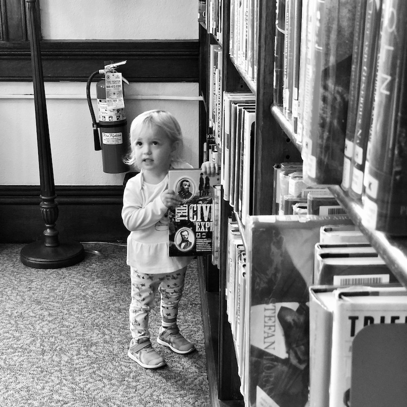 Toddler at Carnegie Library