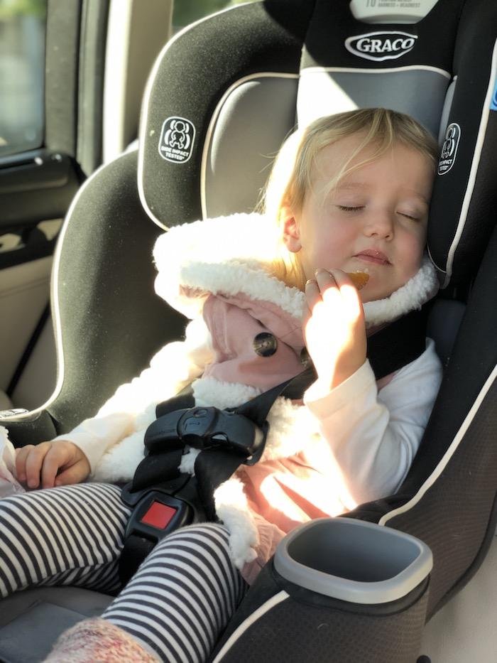 Toddler falling asleep while eating