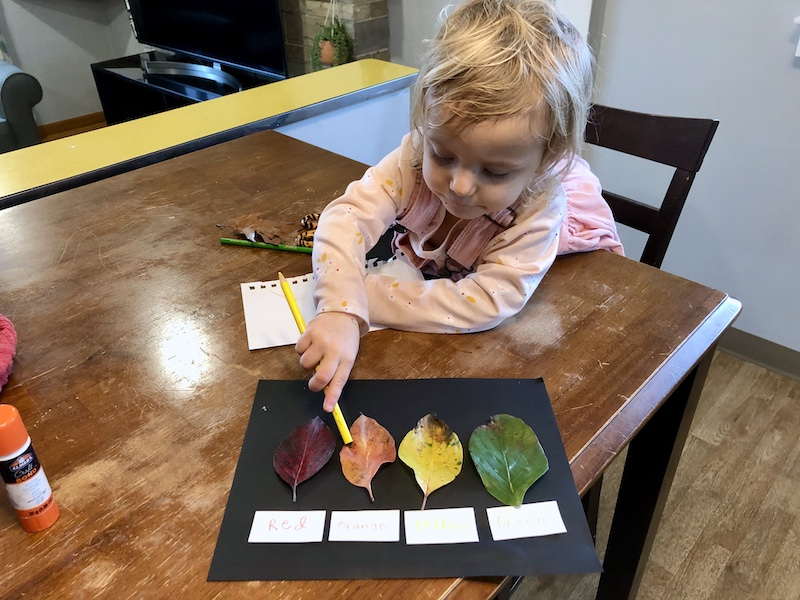 Toddler leaf craft for fall