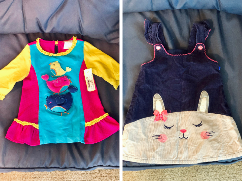 Thrifted toddler clothing