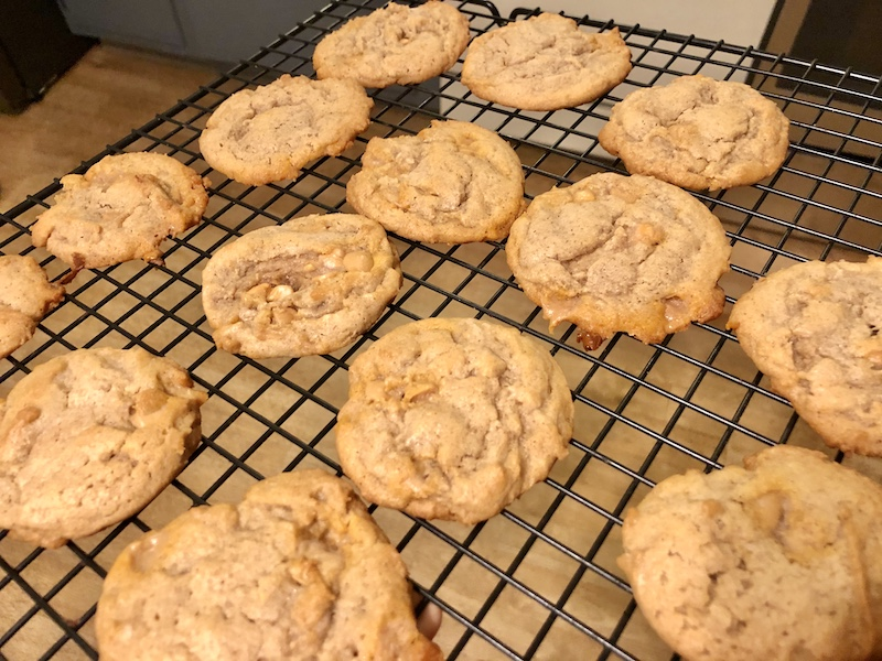Brown sugar pumpkin spice cookies