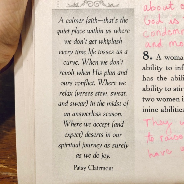 Quote on contentment by Patsy Clairmont