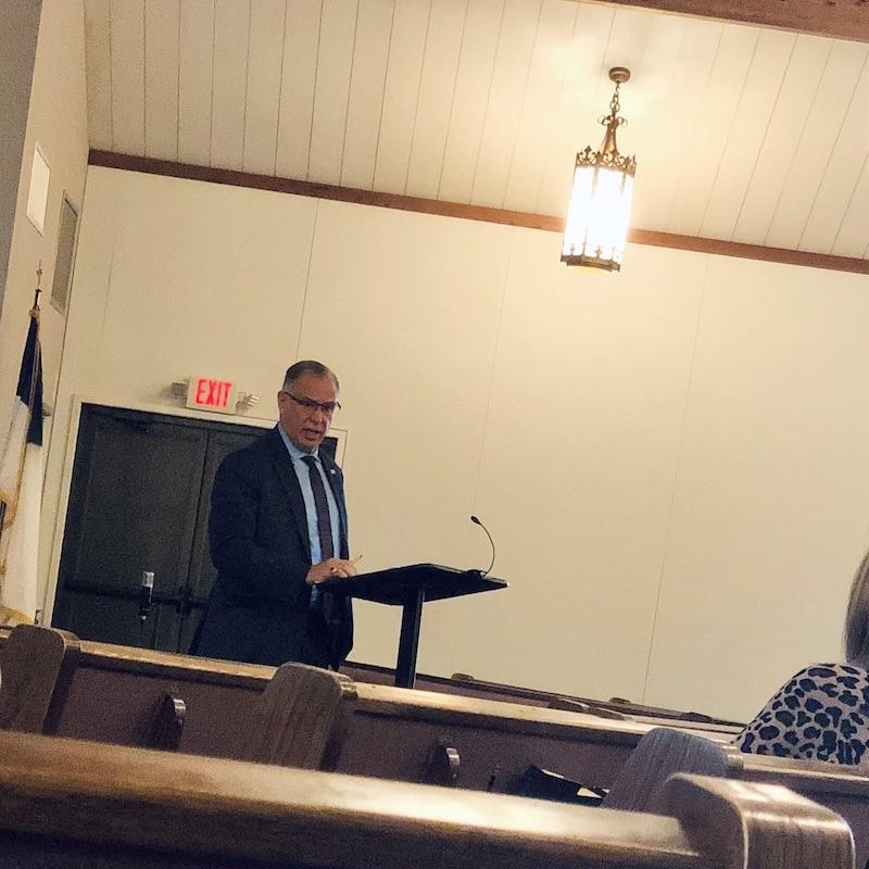 Preaching and teaching at church