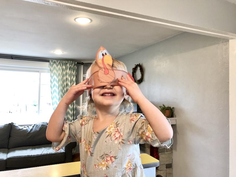 Thanksgiving turkey headband craft for toddler