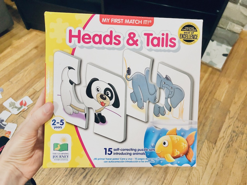 Heads and tails self correcting puzzle