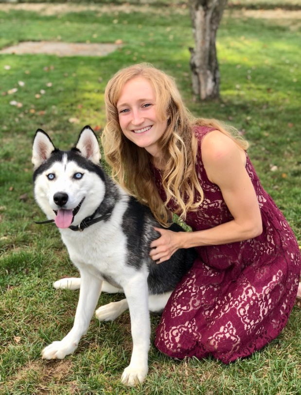 Girl and Siberian Husky