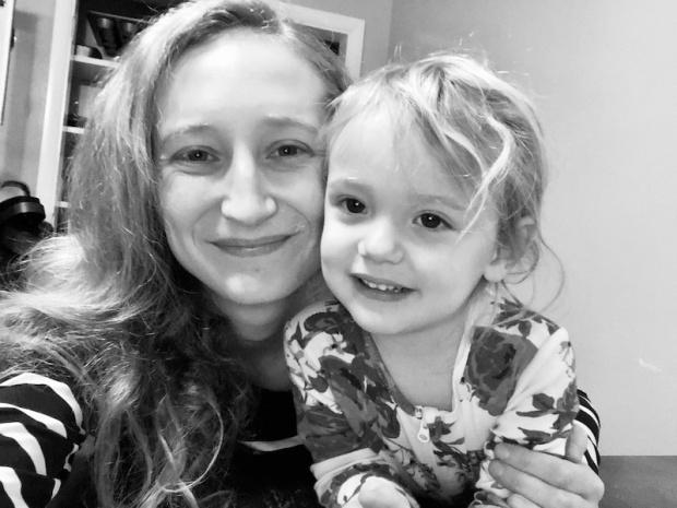 Mom and daughter selfie