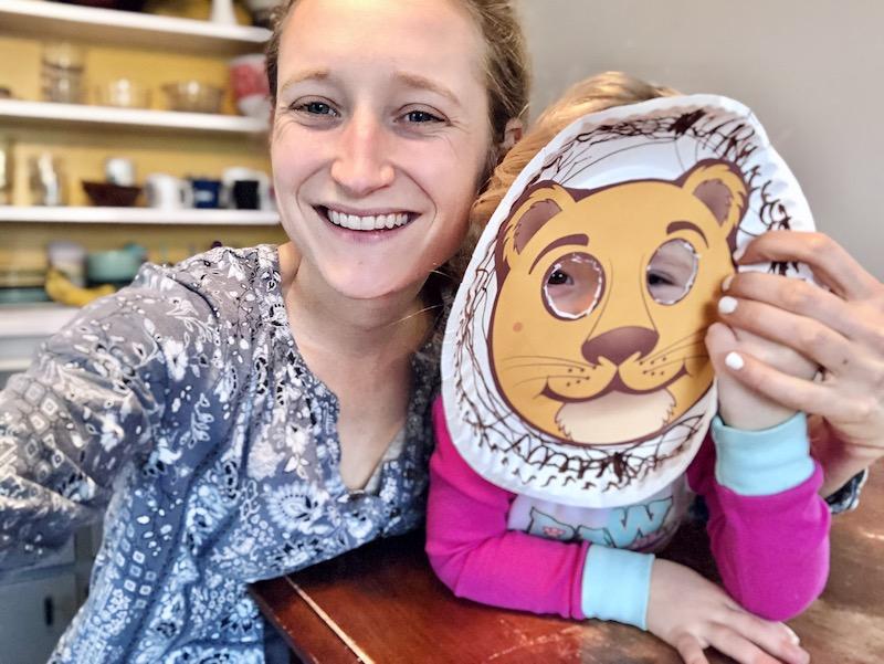 Lion craft for toddler homeschool
