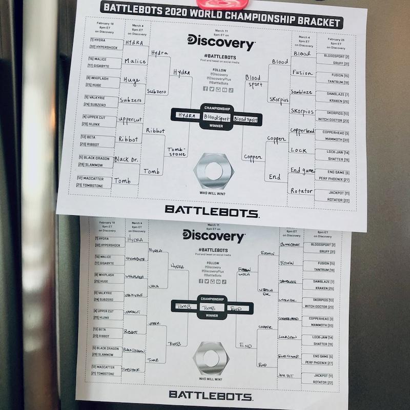 Battle Bots World Championship Brackets