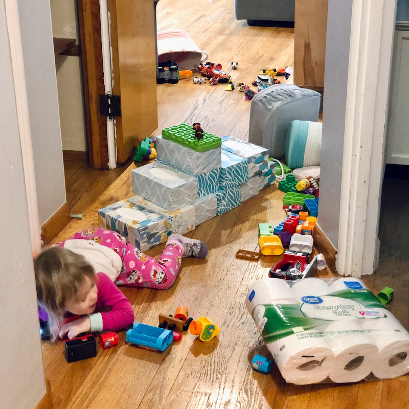 Toddler making a mess