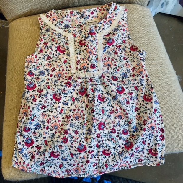 Carters toddler sleeveless floral shirt