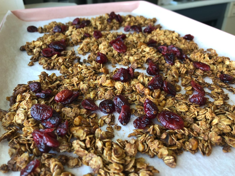 Cranberry orange granola