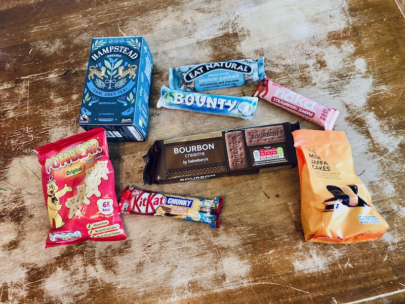 Snacks from the UK