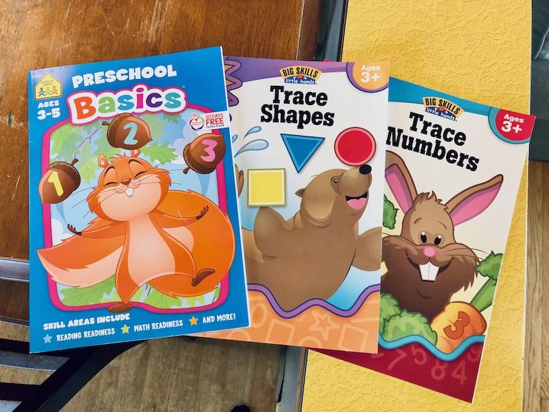 School Zone preschool workbook
