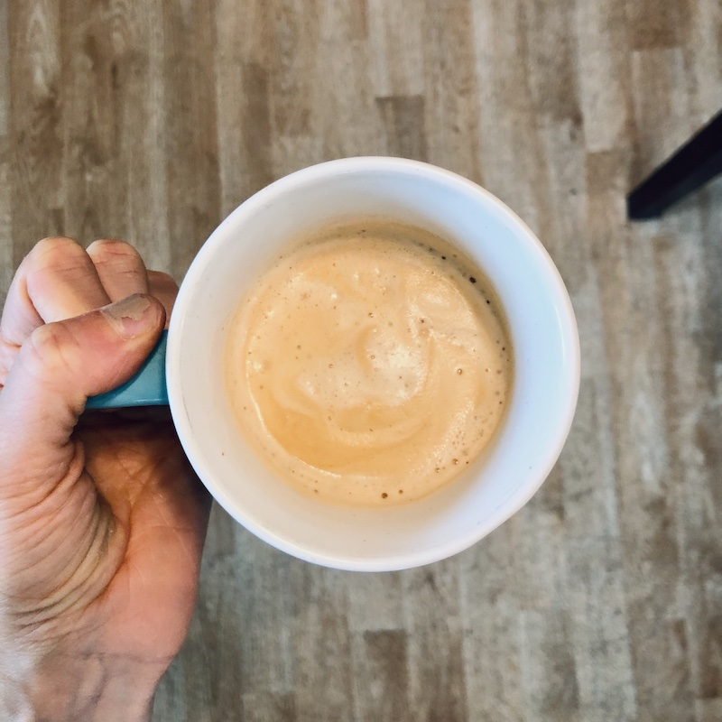 Coffee from Nespresso coffee machine