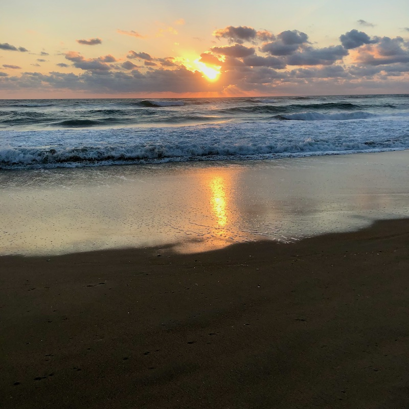 Sunrise over the ocean in Outer Banks, NC in September 2021