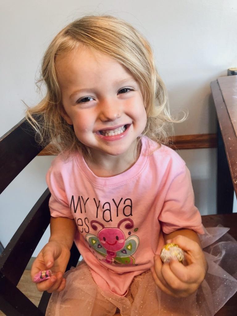 Toddler with Yaya shirt
