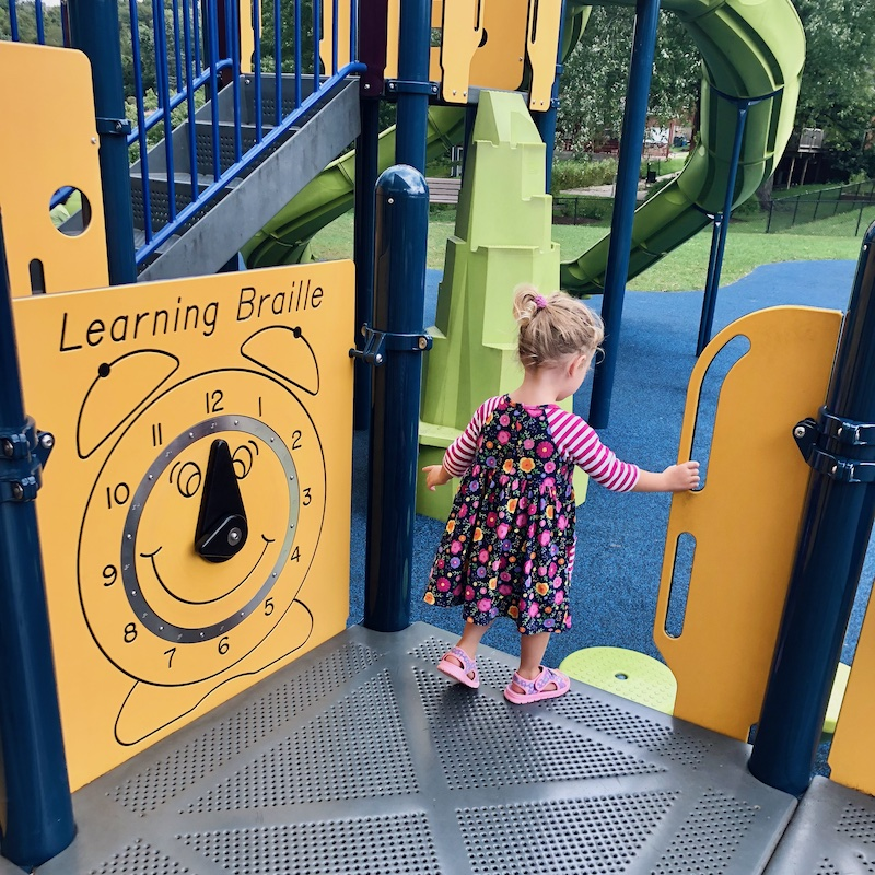 Toddler at park
