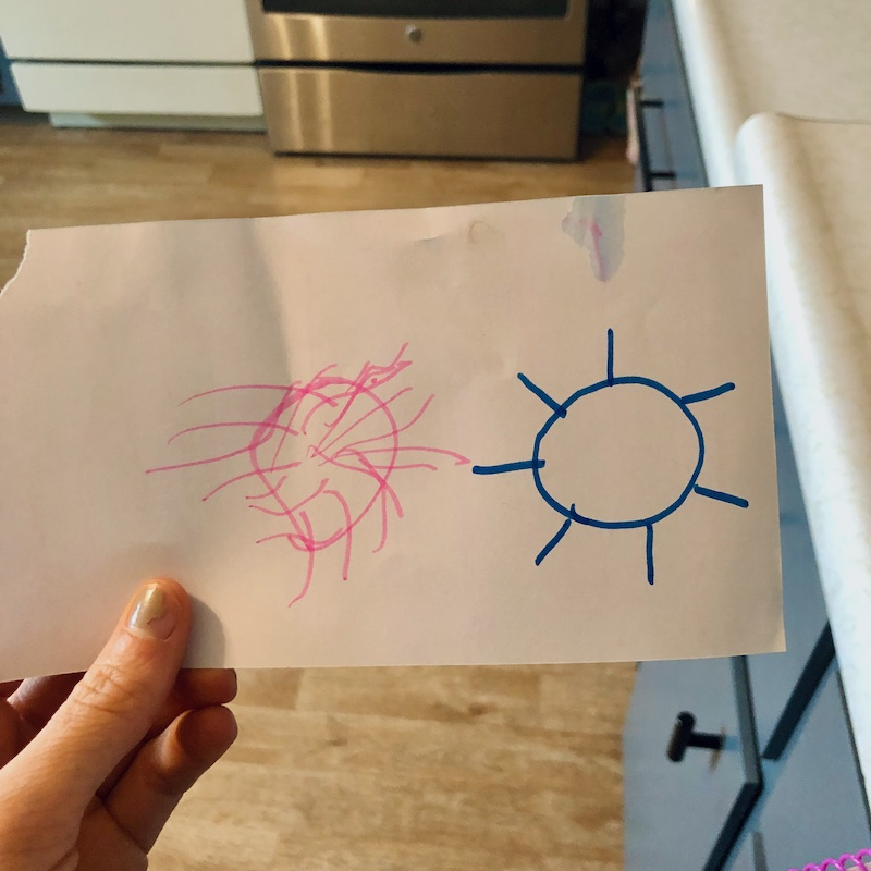 Toddler's drawing of the sun