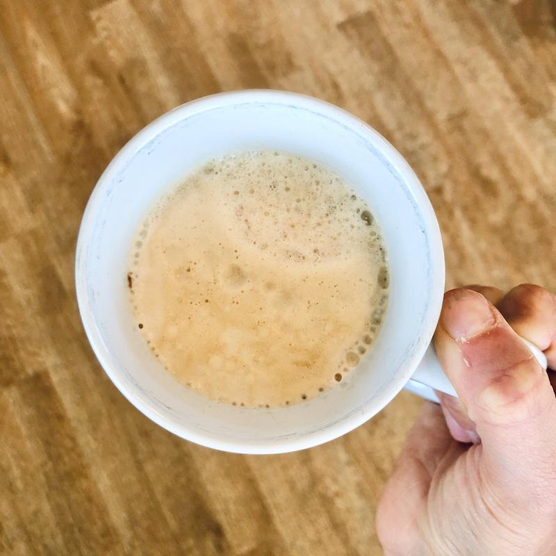 Nespresso vertuo coffee in mug
